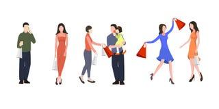 centrum ludzi na zakupy royalty ilustracja