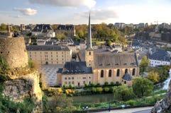 centrum Luxembourg zdjęcie stock