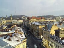Centrum Lviv, stary miasteczko fotografia stock