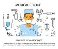 Centrum Medyczne strona internetowa Obraz Stock
