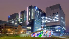 Centrum meer hospitalier DE Universite DE Montreal stock foto's