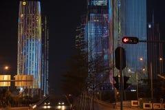 Centrum miasta światła przedstawienie obraz stock