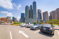 Centrum miasta Abu Dhabi, UAE Obrazy Stock