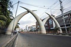 Centrum miasta Mombasa, Kenja Obraz Royalty Free