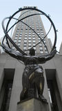 centrum miasta nowa Rockefeller statua York Fotografia Stock