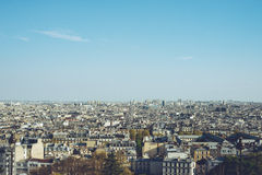 Centrum Miasta Odgórny widok - Paryscy Francja miasta spacery podróżują krótkopędu Zdjęcie Stock