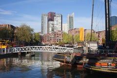 Centrum Miasta Rotterdam w holandiach Obrazy Royalty Free