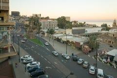 Centrum Miasta scena, Tiberias Zdjęcia Royalty Free