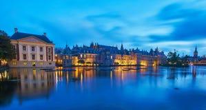 Centrum miasta w noc Zdjęcia Stock