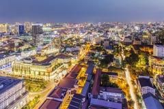 Centrum miasta w nocy Zdjęcie Stock