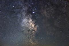 Centrum milky sposobu galaxy, nocne niebo, Zdjęcia Royalty Free