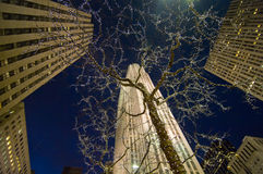 centrum noc Rockefeller Obraz Royalty Free