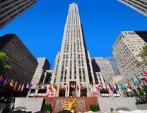 centrum nyc Rockefeller Obrazy Stock