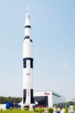 centrum rakieta s astronautyczny u Obrazy Royalty Free