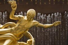 centrum Rockefeller posąg dni Zdjęcia Royalty Free