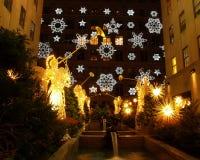 centrum Rockefellera wakacjach wyświetlania światło obrazy royalty free