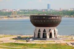 Centrum rodzinny kocioł i rzeka Kazan, Tatarstan, Rosja Zdjęcie Royalty Free