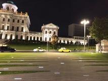 Centrum Rosyjski kapitał Moskwa przy nocą zdjęcie stock