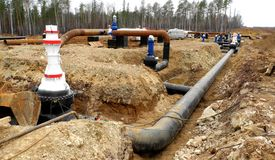 centrum rurociąg naftowy bałkanów Siberia rafinerii, fotografia stock