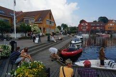 Centrum schronienie Kristiansand, Norwegia fotografia royalty free