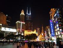 Centrum shangai, najwięcej sławnej ulicy zdjęcia stock
