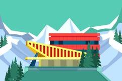 Centrum sportowe budynek royalty ilustracja