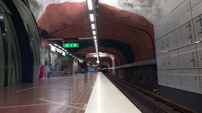 Centrum Sundbybergs Σταθμός μετρό Τέχνη στον υπόγειο Στοκχόλμη Σουηδία φιλμ μικρού μήκους