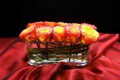 centrum sztuki kwiatów stołu ślub Zdjęcia Stock