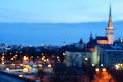 Centrum Tallinn, zamazujący Zdjęcia Royalty Free