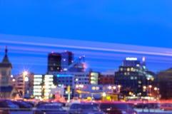 Centrum Tallinn, zamazujący Obraz Royalty Free