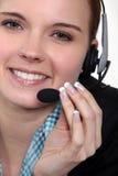 Centrum telefoniczne żeński agent Zdjęcie Stock