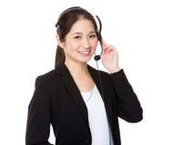Centrum telefoniczne agent Obrazy Stock