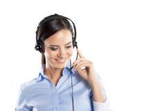 Centrum telefoniczne kobieta Obrazy Royalty Free