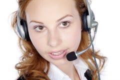 Centrum telefoniczne kobieta Zdjęcie Stock