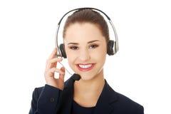 centrum telefoniczne kobieta obrazy stock