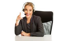 Centrum telefoniczne kobieta pracująca fotografia stock