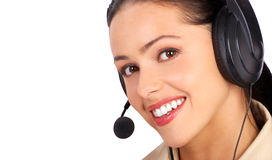 centrum telefoniczne operator obraz stock