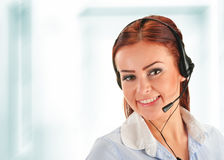 Centrum telefoniczne operator. Obsługa klienta. Helpdesk Obrazy Royalty Free