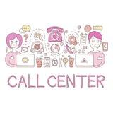 Centrum Telefoniczne pracy elementów Kreatywnie nakreślenie Infographic Zdjęcie Royalty Free
