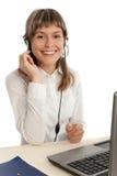 centrum telefoniczne przedstawiciel Zdjęcia Royalty Free