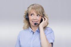 Centrum telefonicznego operater Obrazy Stock