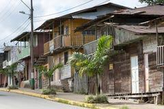 Centrum terenów domy w Cotundo Ekwador Zdjęcie Stock