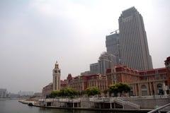 Centrum Tianjin, Kina arkivfoto