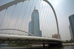 Centrum Tianjin, Kina royaltyfria foton