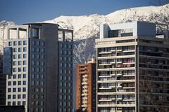 centrum to Santiago obraz royalty free