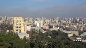 Centrum van Baku op December-dag azerbaijan stock video
