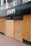 Centrum van Birmingham-Engeland Rellen 2011-Jessops Stock Afbeelding