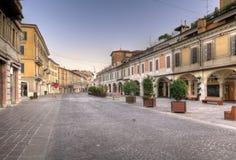Centrum van Brescia bij dageraad royalty-vrije stock foto