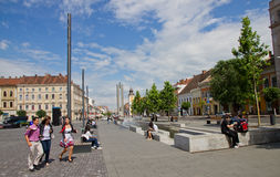 Centrum van cluj-Napoca Stock Fotografie