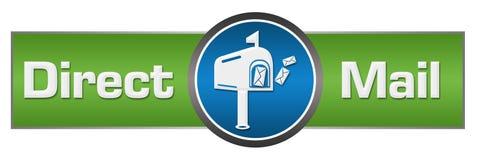 Centrum van de direct mail het Groenachtig blauwe Cirkel stock illustratie